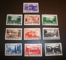 RUSSIA SC 1366 - 1375 SET / 10 - STATE SANATORIA FOR WORKERS -  CTO / USED  1949