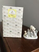 Precious Moments figurine PRAISE THE LORD ANYHOW, dated 1982 Enesco