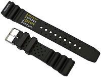 Caoutchouc Plongeant Montre Bracelet Noir Convenable Citizen Promaster 20mm