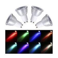 4pcs/set RGB GU10 4W 16 Color LED Changing Dimmable Light Bulbs Lamp+RC Remote