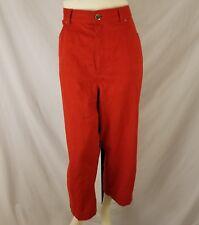 Ralph Lauren Jeans Co Womens Cropped Pants 14 Red 100% Cotton Career Capris