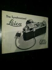 Vintage Mid-century The Synchronized Leica Camera Manual & Advertisement
