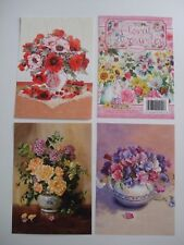 """Hunkydory 24 mixed Little Book of Card Toppers """"Floral Favourites"""" see pictures"""