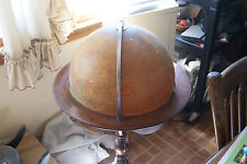 """ANTIQUE RAND MCNALLY 16"""" BALL 1930'S ON STAND LIGHTED INDEXED TERRESTRIAL ART GB"""