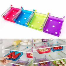 Slide Kitchen Fridge Space Freezer Organizer Saver Storage Rack Shelf Holder