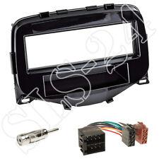 Citroen C1(P) 07/2014 / 1-DIN Radioblende schwarz + ISO Adapter+Antennenadapter