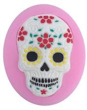 Silicone Sugar Skull Dia De Los Muertos Mold Fondant Cake Decorations
