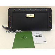 New Kate Spade Neda Helena Street Leather Wallet WLRU2381 Black
