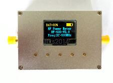 10GHz 100KHz-10000MHz OLED RF Power Meter -60~0dBm Sofware RF Attenuation Value