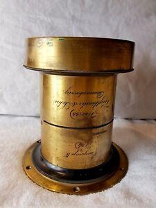 Voigtlander & Sohn Braunschweig Euryscop IV No.6 Brass Lens.