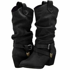 Women Gothic Style CowGirl Slip-on Fall/ Winter Boots