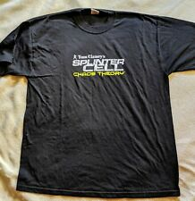 Rare Tom Clancy's Splinter Cell Chaos Theory Sz XL T-shirt NEW