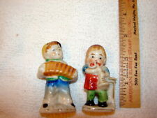 """Two Occupied Japan Figurines - Musicians playing Instruments - 3"""""""