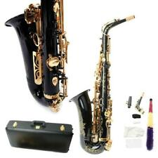New High Grade Alto Bb Saxophone Sax with Case Accessories for Beginner Black