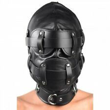 Strict Leather Total Lockdown Hood Bondage Lock Down Blindfold Gag Medium Large