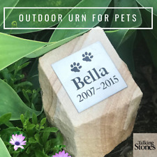 Pet Cremation Urn - Sandstone Rock Face - Personalised & Ever-Lasting