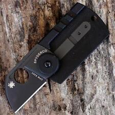 Couteau Spyderco Dogtag Black Acier CPM S30V Manche Fibre Carbone SC188CFBBKP