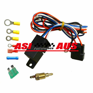 Radiator Thermo Fan Fuse Temp switch Sensor Control Changeover wiring RELAY 12v