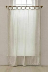 Urban Outfitters White Crushed Velvet Window Curtain Boho Room Decor Curtains