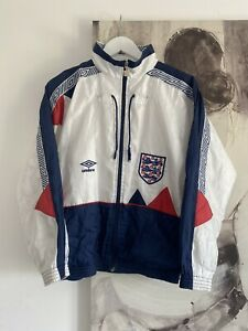 Vintage 90's Umbro England International Football Jacket - S - MENS - Mint