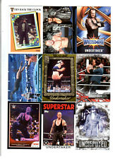 Undertaker Wrestling Lot of 9 Different Trading Cards 3 Inserts WWE UT-E2