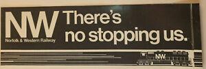 Norfolk And Western Vtg Railway Bumper Sticker N&W Train Railroad Label