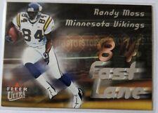 2000 Ultra Fast Lane Randy Moss Insert #9 of 15 FL