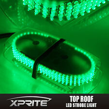 240 LED 12V Oval Light Bar Roof Top Emergency Hazard Flash Strobe Green