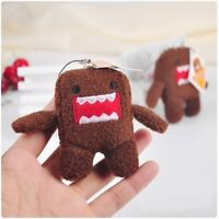 4'' BROWN DOMO KUN Plush Keychain Soft Doll Stuffed Toy Pendant Key Ring Gift