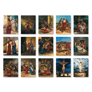 """15"""" x 19"""" Indoor Stations of the Cross  Digitally Printed Fabric Banners"""
