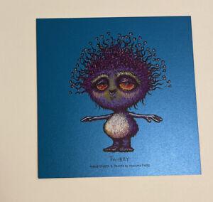 """Marq Spusta 'Twibzy' Bright Blue Shimmer Mini Print 5x5"""" Purple Colorway Sick UV"""