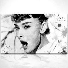 Audrey Hepburn Bild auf Leinwand Abstrakte Bilder Wandbilder Kunstdruck D0317