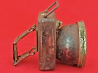 OLD VINTAGE BRASS & IRON MADE BATTERY OPERATED BICYCLE FLASHLIGHT / TORCH