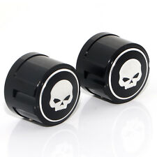 Front Axle Skull Nut Cover Covers Cap For Harley-Davidson Touring Softail Dyna