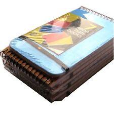 7 Color Tamaño De Bolsillo Correa Elástica Bloc de notas gobernado conveniente Mini Cubierta De Plástico