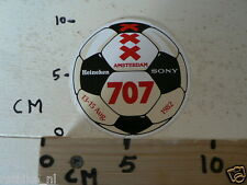 STICKER,DECAL AMSTERDAM 707 OLYMPISCH STADION VOETBAL,SOCCER,1982 SONY HEINEKEN
