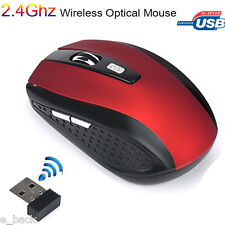 2.4GHz Wireless 2400DPI Cordless Optical Mouse Mice USB Receiver for PC Laptop