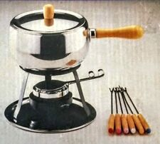 Kitchen Concepts Fondue Set Stainless Steel Chocolate Covered Strawberries NEW