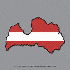 Etiqueta engomada de la bandera de Letonia-LATVIA Mapa-Coche-Laptop-Macbook Notebook - 2947