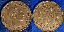 5 Centimos 1878 Alfonso XII° Spagna Spain  #1975