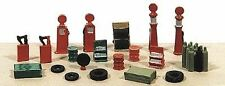 RAILWAY EXPRESS MINIATURES N SCALE DELUXE GAS STATION DETAIL KIT | BN | 2181