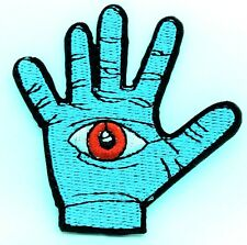 All Seeing Eye Hand Magic Mystic Illuminati Embroidered Iron On Patch Applique