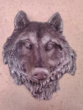 latex mould of a wolf plaque, garden ornaments NEW !!
