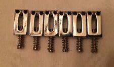 2001 Fender Squier Bridge Saddles Chrome Modern Style Stratocaster Telecaster