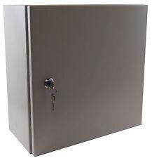 "YuCo 12"" 12"" 8"" Metal Nema 4 Enclosure w Backplate YC-12X12X8-EL-2-KF With Lock"