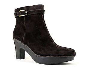 Easy Spirit Women's Pallma Ankle Boot Mink Brown Suede Size 10 M