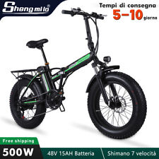 """20"""" Fat Bike Elettrica 500W Pieghevole Bici 40km/h Bicicletta 15Ah ebike Moped"""