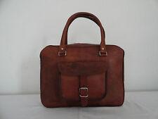 Leather Messenger Bag Mens 17 Inch Laptop Briefcase Satchel Shoulder Bag Vintage