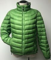 LL BEAN WOMEN'S GREEN NYLON ULTRALIGHT 850 DOWN FILL FULL ZIP JACKET PETITE SZ M