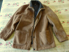 Marks & Spencer Faux Suede Wool Lined Warm Winter Coat Jacket size S-M